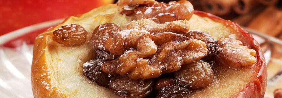 Honigses-Bratapfelmen-beim-Ritteressen-Weihnachtsfeier